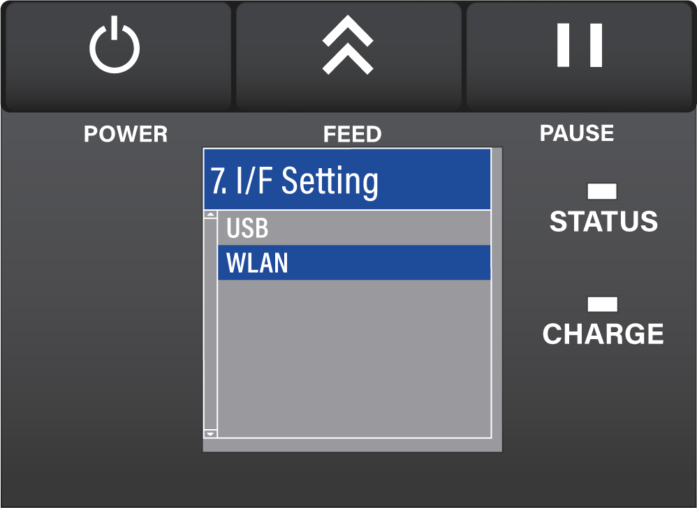 Toshiba TEC B-FP3D Etikettendrucker USER SYS MODE WLAN-Einstellungen